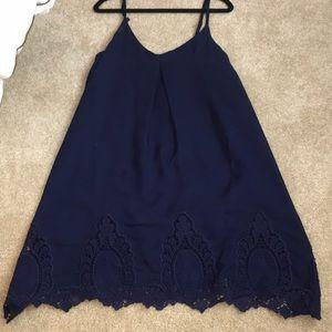 Tobi lace crochet shift dress